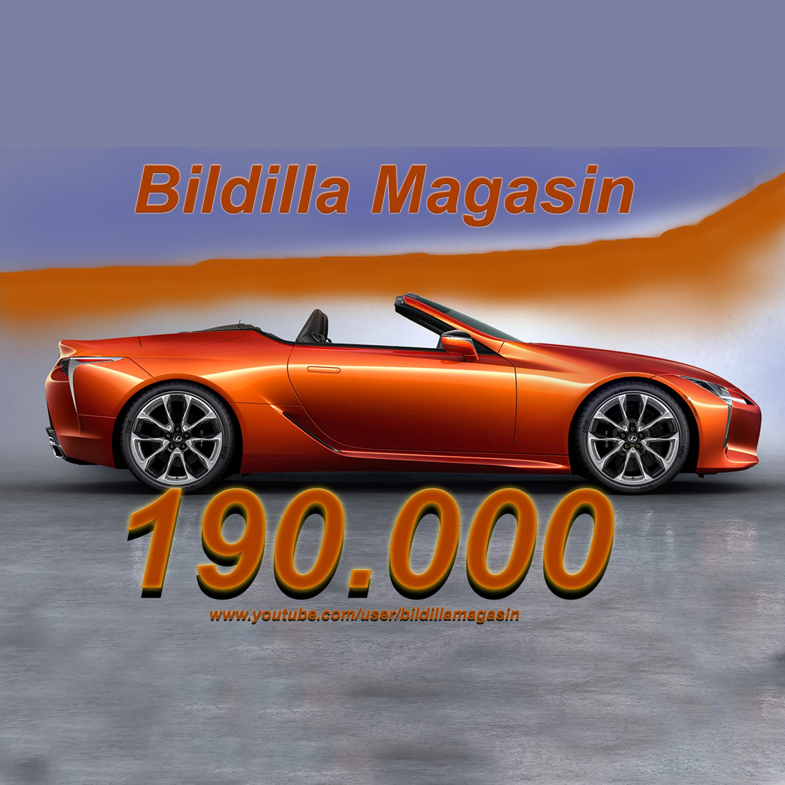 Bildilla Magasin på YouTube, 190 000 avspillinger