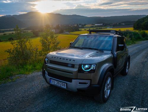 En første prøvekjøring / fotografering / video av Nye Land Rover Defender